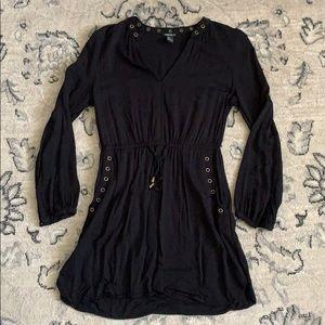 Forever 21 long sleeve black dress w/ detail